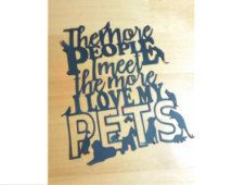 Papercut Template - Commercial Use - ! Pet Lover papercut template, paper cut template stencil