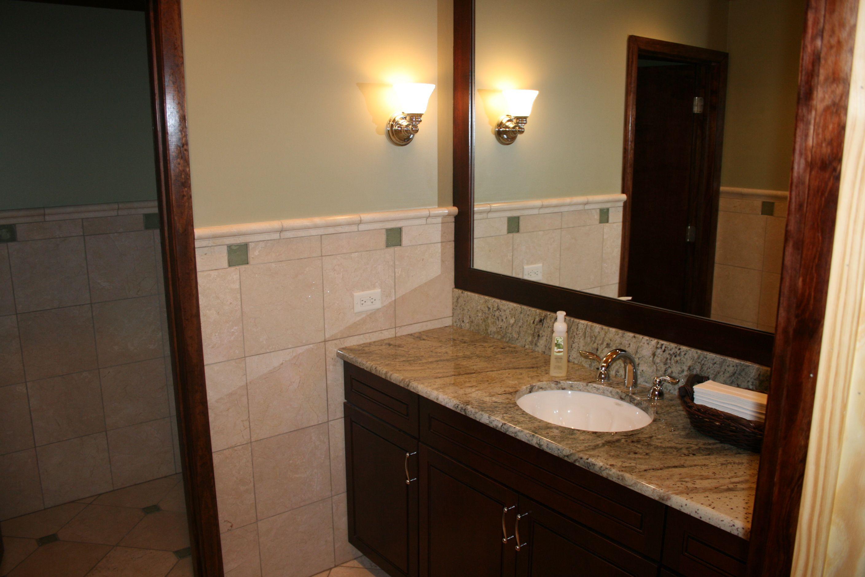 Commercial Bathroom Decor Framed Mirror Tile Half Way Faith Church Project Pinterest