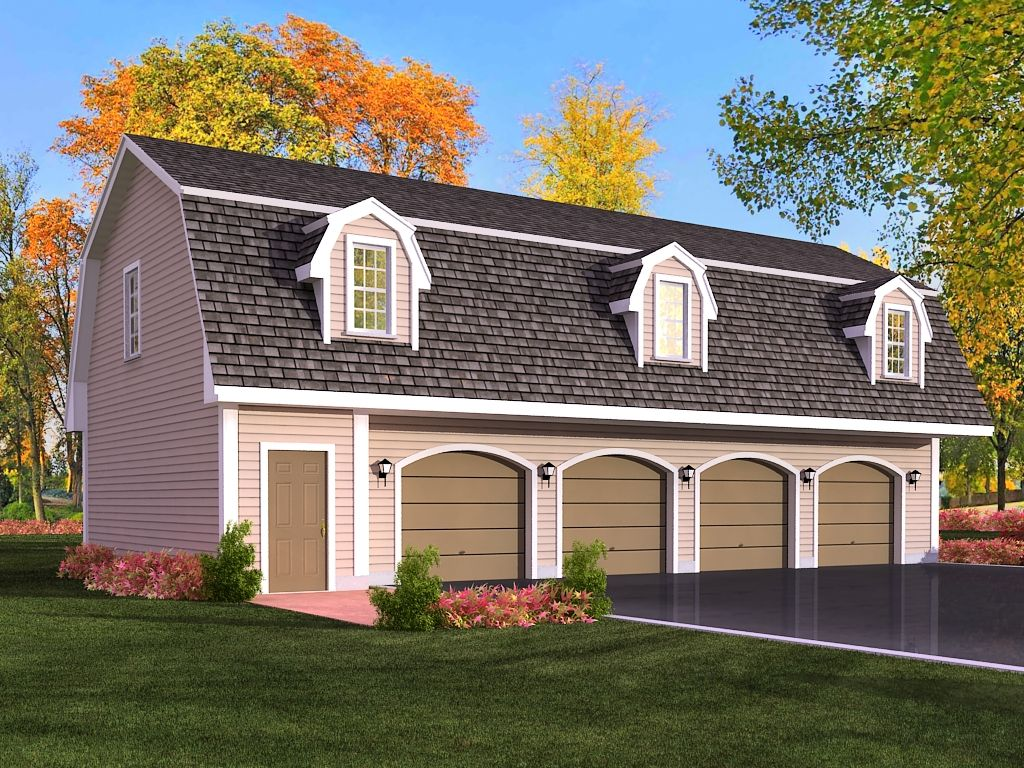Efficient 3 car garage apartment plans modern garage for Contemporary garage apartment plans