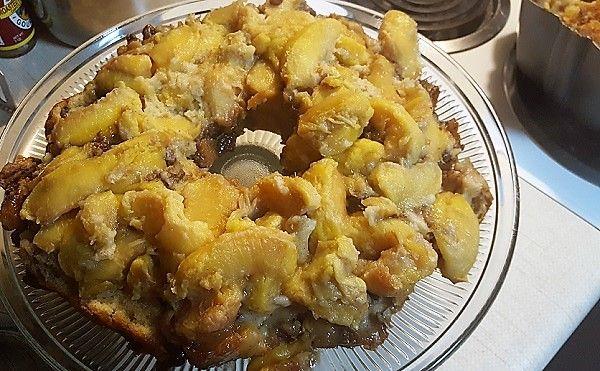 Peach Cobbler Pound Cake ~ Teadoddles #peachcobblercheesecake
