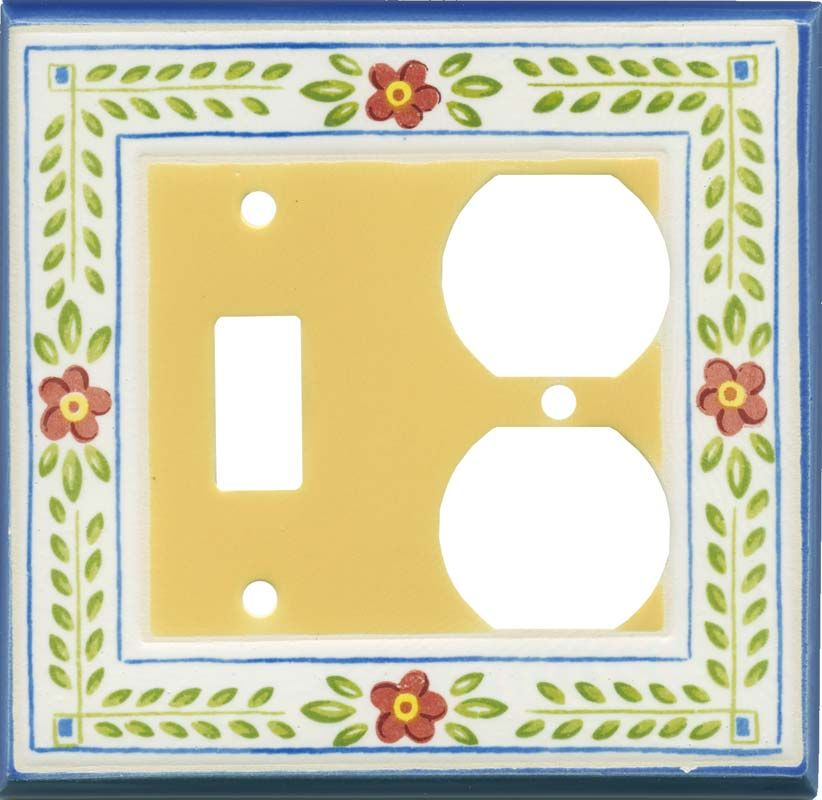 French Country Ceramic Light Switch Plates Outlet Covers Wallplates