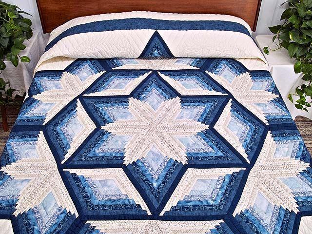 Offset Log Cabin Quilt Pattern Diamond Star Log Cabin