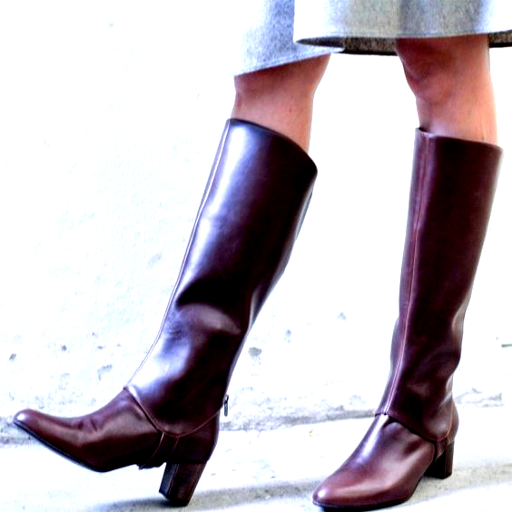Maroon Chunky Heels Long Boots Fashion Knee-high Boots for Work, Party, Night club, Dancing club, Music festival, Date, Going out   FSJ #highheels #heels #platgorm #toptags #fashion #style #stylish #love #cute #photooftheday #tall #beauty #beautiful #instafashion #girl #girls #model #shoes #styles #outfit #instaheels #fashionshoes #shoelover #instashoes #highheelshoes #trendy #heelsaddict #loveheels #iloveheels #shoestagram