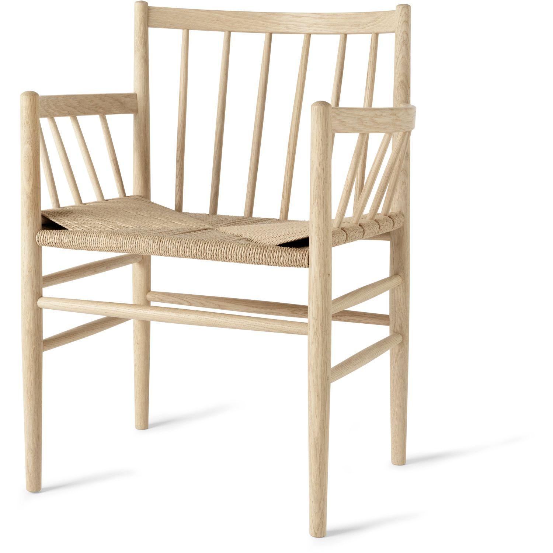 J81 Armchair Natural Oak Natural Seat Comfortable Dining