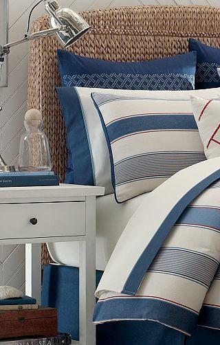 Rouge /& Bleu Thème Nautique avec casiers à Homard /& bouées par Blonder PB58050B