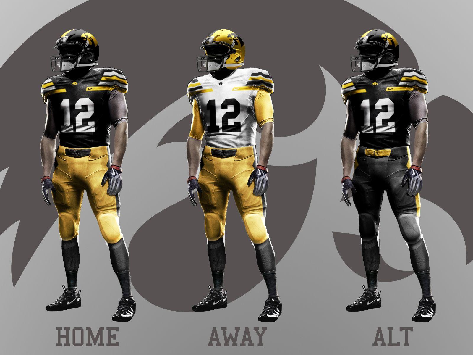 Iowa Hawkeyes Football Nike Pro Combat Jersey Mockups.  www.GriffinVanDyke.com d2235795e