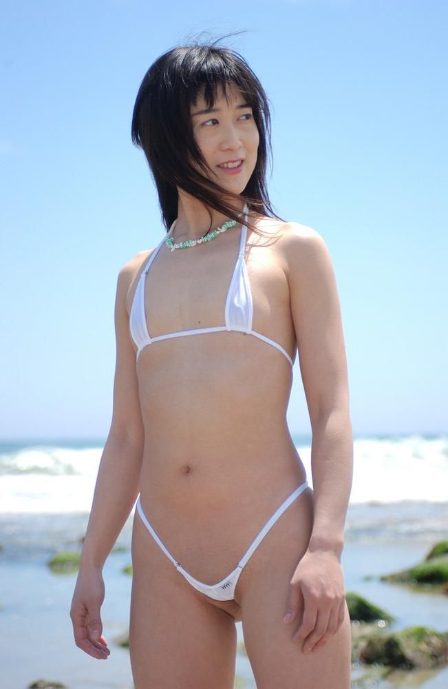 Asian in mini bikini
