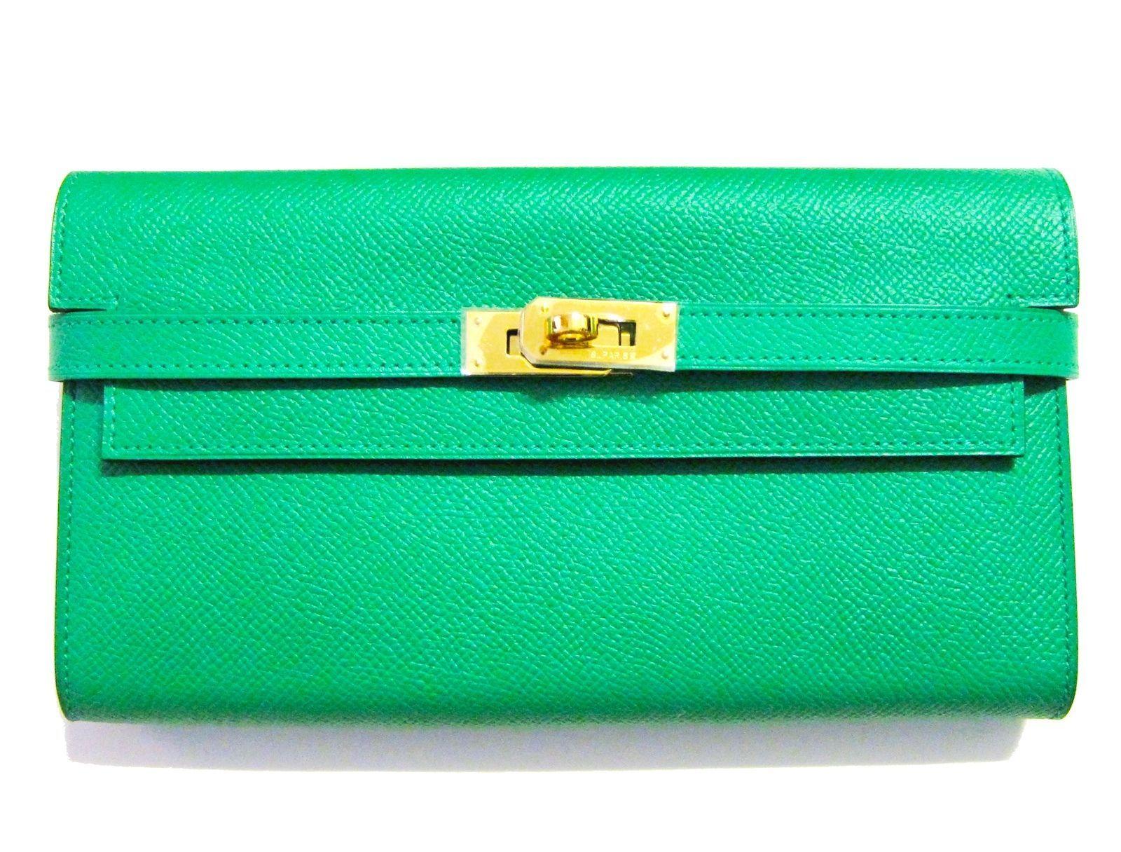 Hermes Kelly Constance Epsom Long Wallet Bamboo Gold Hardware  hermes 744a4f36e