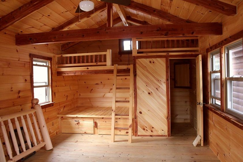Hunting cabin plans hunting cabin interior cabin in for Tiny hunting cabin