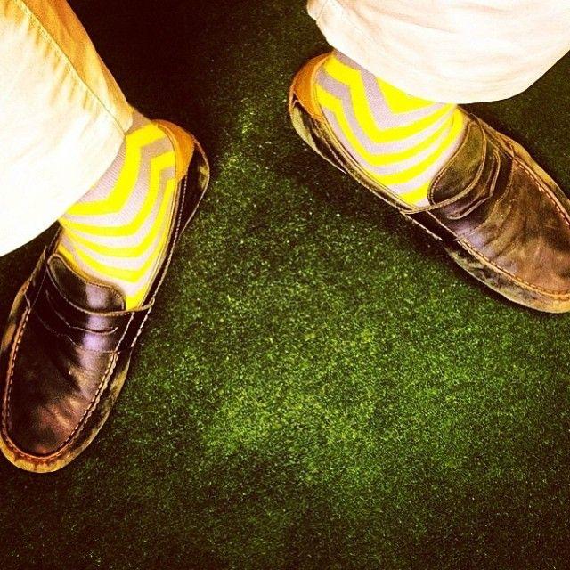 Someone else showing off his LYF zig n zag design socks