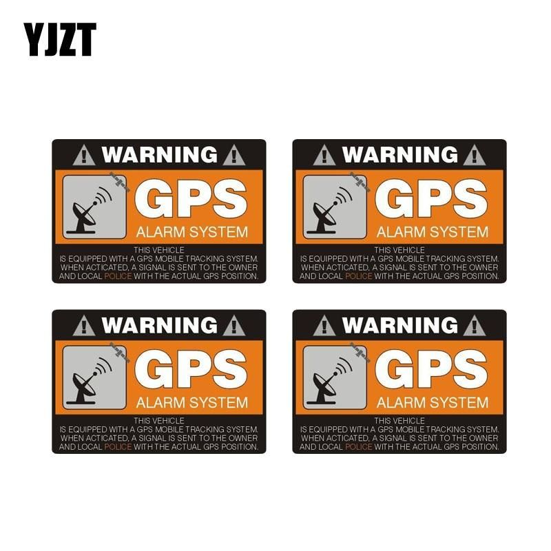 GPS Alarm System Tracker Warning Sticker Decal Safety Car Vinyl 2 decals
