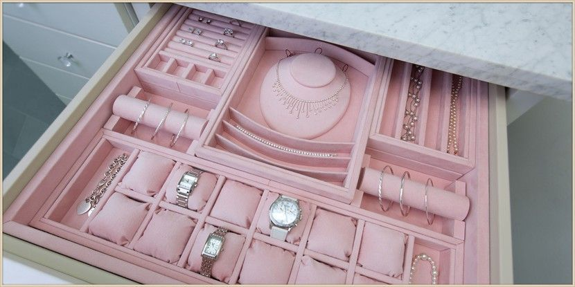 Custom Jewelry Drawer Inserts