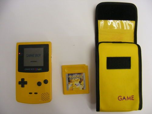Nintendo Game Boy Color Dandelion Handheld, with pouch and Pokemon Game http://cgi.ebay.co.uk/ws/eBayISAPI.dll?ViewItem=300844536223=STRK:MESE:IT