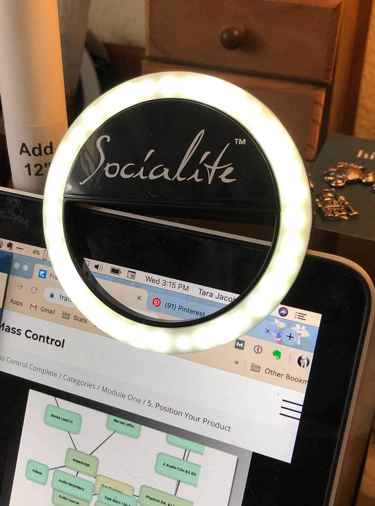 Socialite Mini Led Ring Light Light Laptops Kids Rings Led Ring Light