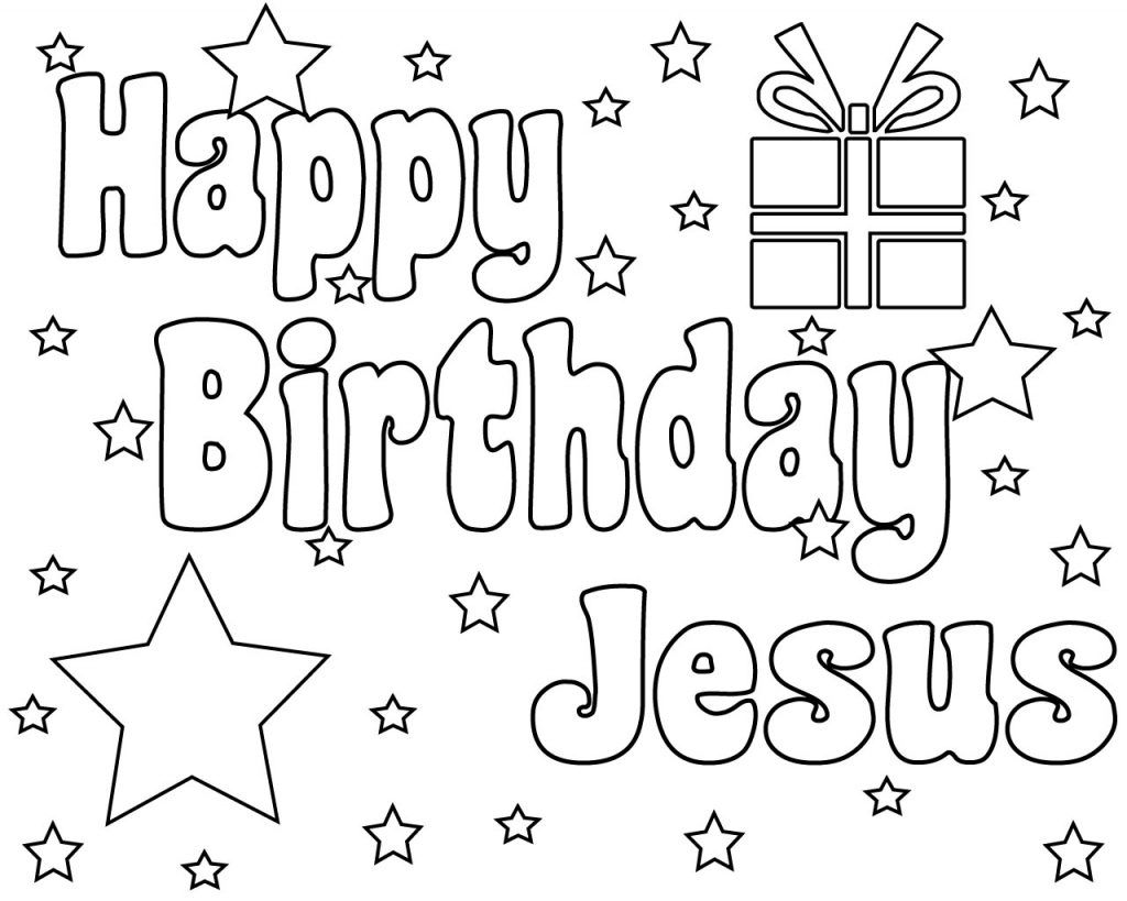 Happy Birthday Jesus Coloring Pages Printable Happy
