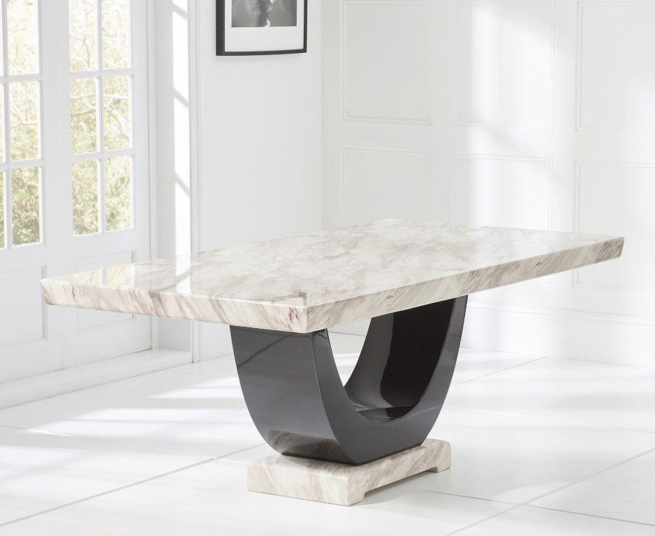 Mark Harris Rivilino Cream Marble Rectangular Dining Table 200cm Dining Table Marble Dining Table Marble Dining