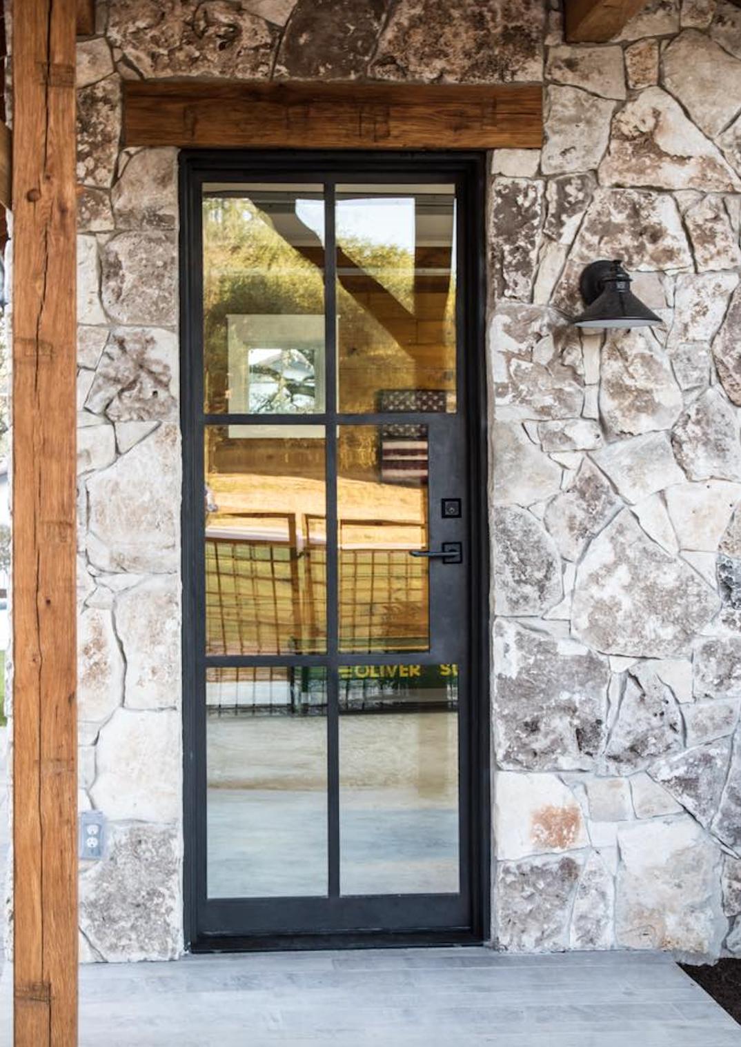 Luxury Steel Door Backdoor Patiodoor Canteradoors Steeldoor Puertas De Vidrio Molduras Para Ventanas Casas De Piedra