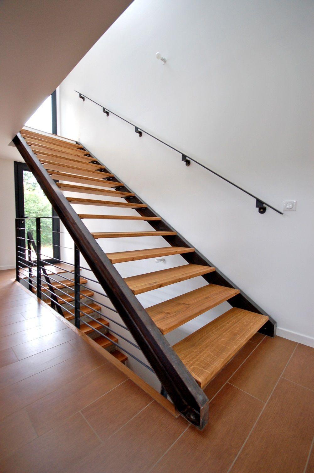 Escalier Droit Sans Rampe intérieur escalier double limons droit à lyon - kozac | escalier | pinterest