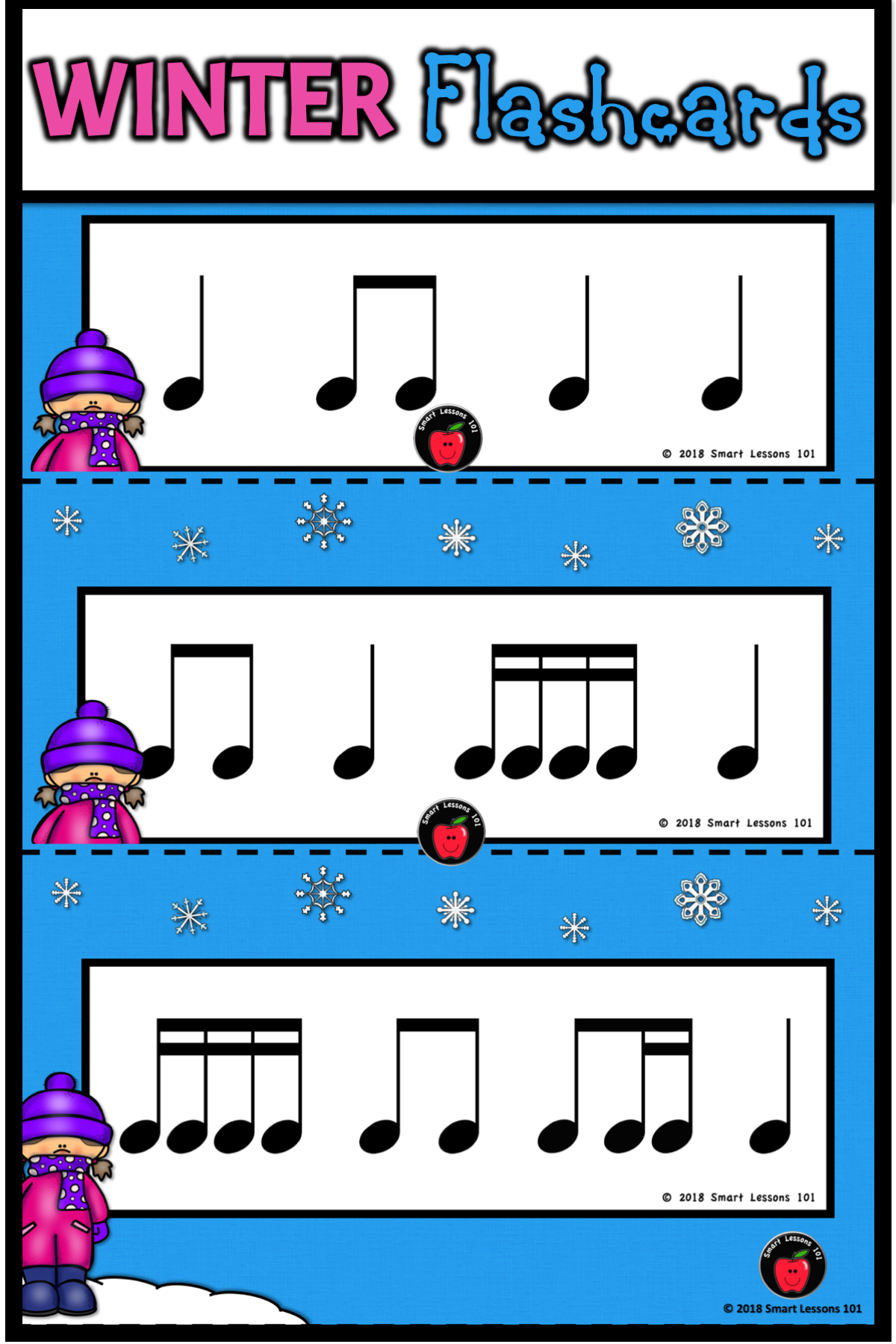 Winter Music Activities Rhythm Card Activities For Winter