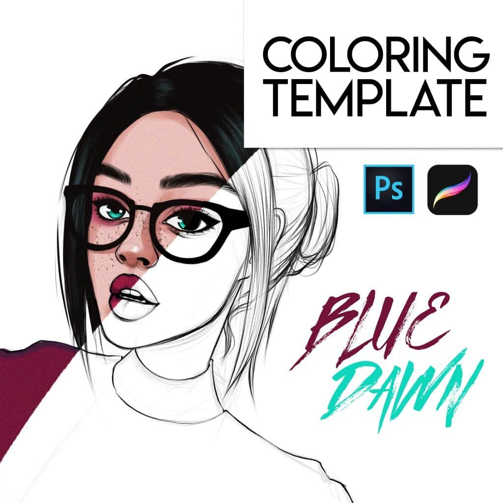 Filaree Coloring Page Pdf Procreate And Psd Alicja Prints Best Brushes Sketches Tutorial Art Drawings Beautiful
