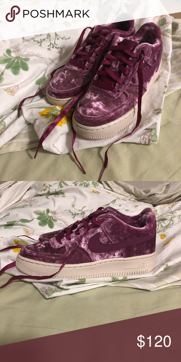 Nike Shoes | Air Force Velvet Pinkpurple | Poshmark