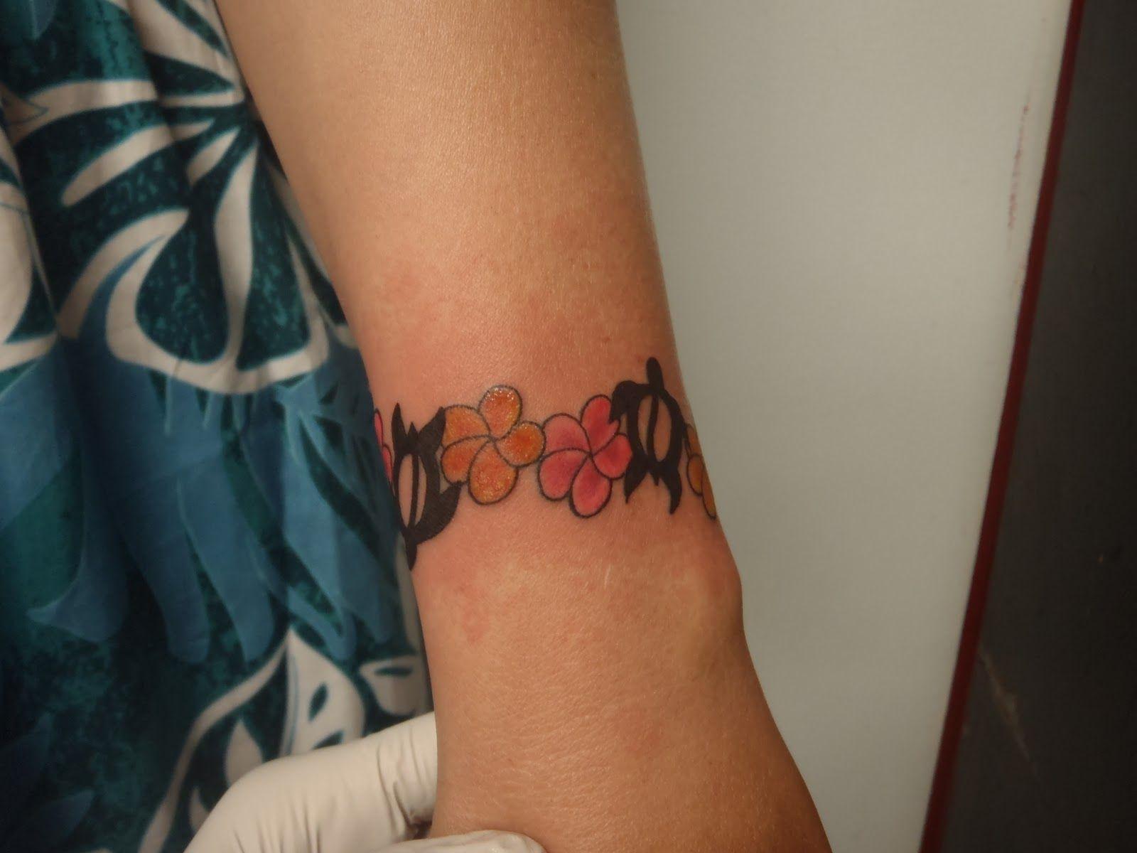 Plumeria Bracelet Tattoo Google Search Tattoos Tattoo Bracelet Flower Tattoo