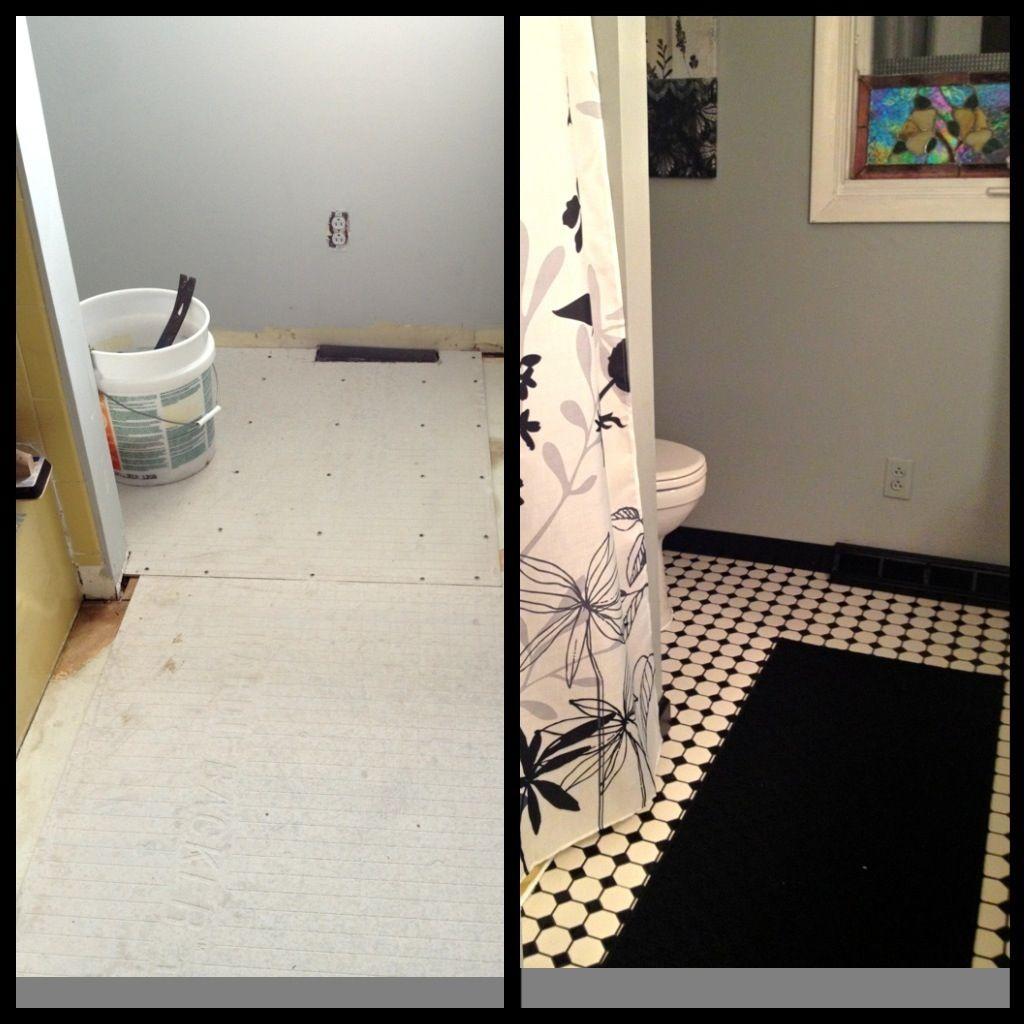 Mary Homann's bathroom update. Tile Home Depot. Shower