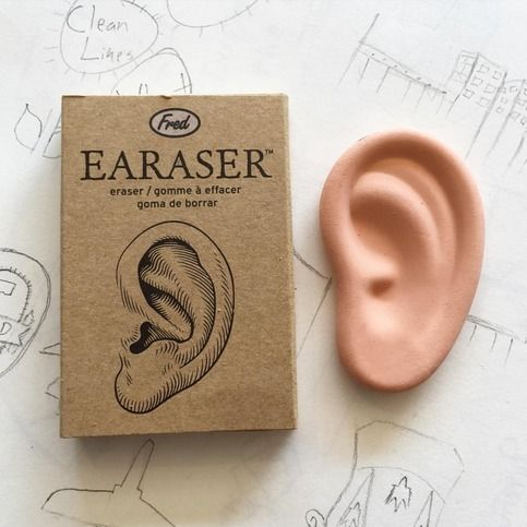 We all make mistakes, artistic or otherwise. Take matters into your own hands, just like Van Gogh. Grab your earaser and cut out the offending parts! This soft, long-lasting eraser is both fun and useful. Ya hear?