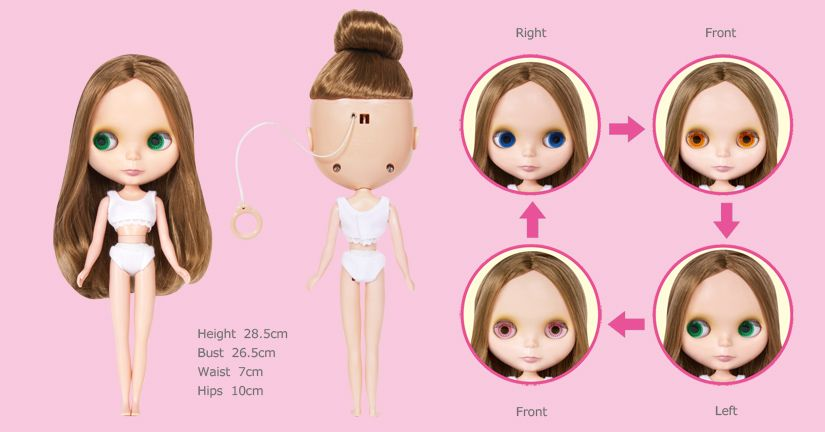 Image is loading Tangkou-Doll-Jointed-Body-Blythe-Doll-Liv-Doll-