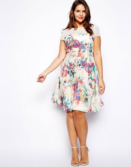 Une jolie robe grande taille imprim fleuri robes d for Jolie robe pour un mariage