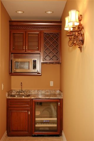 Sink Microwave Fridge Cabinet Wet Bar Kitchen Wet Bar Microwave