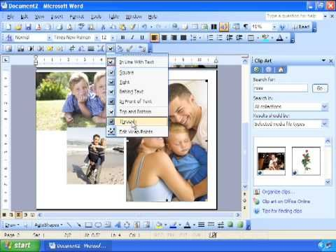 Creating Custom Cards For Christmas, Birthday, Word 2003 - creating an invitation in word