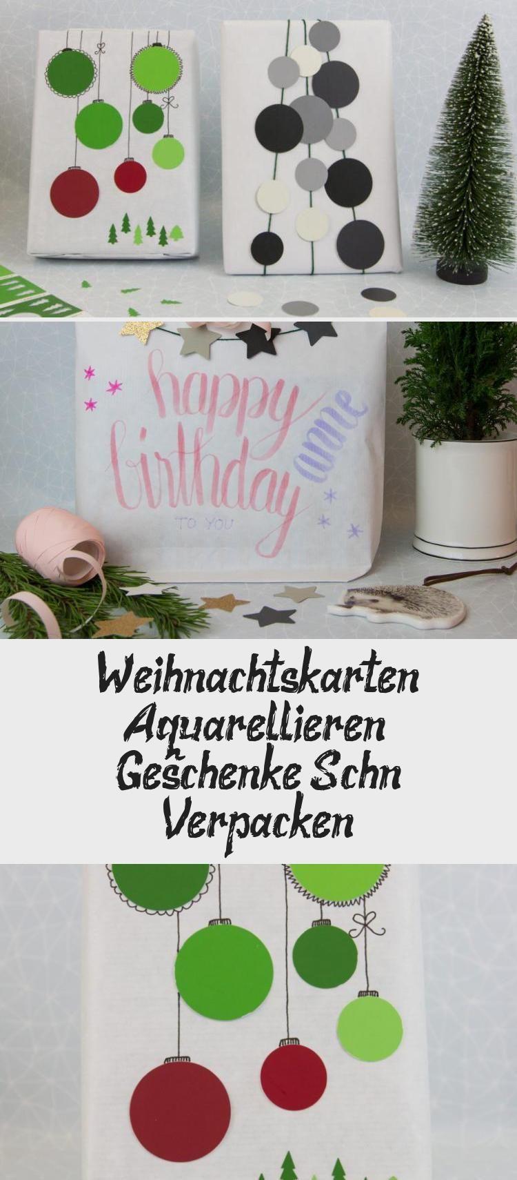 Weihnachtskarten Selber Machen Mit Wassermalstiften