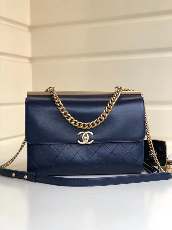 fcc65a993fee Chanel Medium Coco Luxe Flap Bag Dark Blue is an extremely elegant bag that  is made to impress all around you. #ChanelBags #CocoFlapBag #LuxeFlap  #LuxeBag