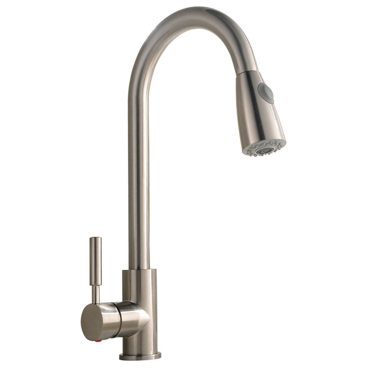 Best Commercial Stainless Steel Single Handle Pull Down Sprayer Alluring Single Handle Kitchen Faucet Decorating Design
