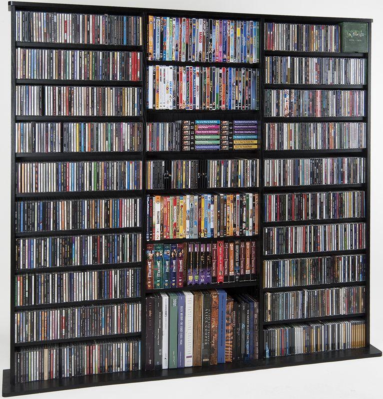 Leslie Dame Cdv 1500blk Cherry Multimedia Storage Rack Storage