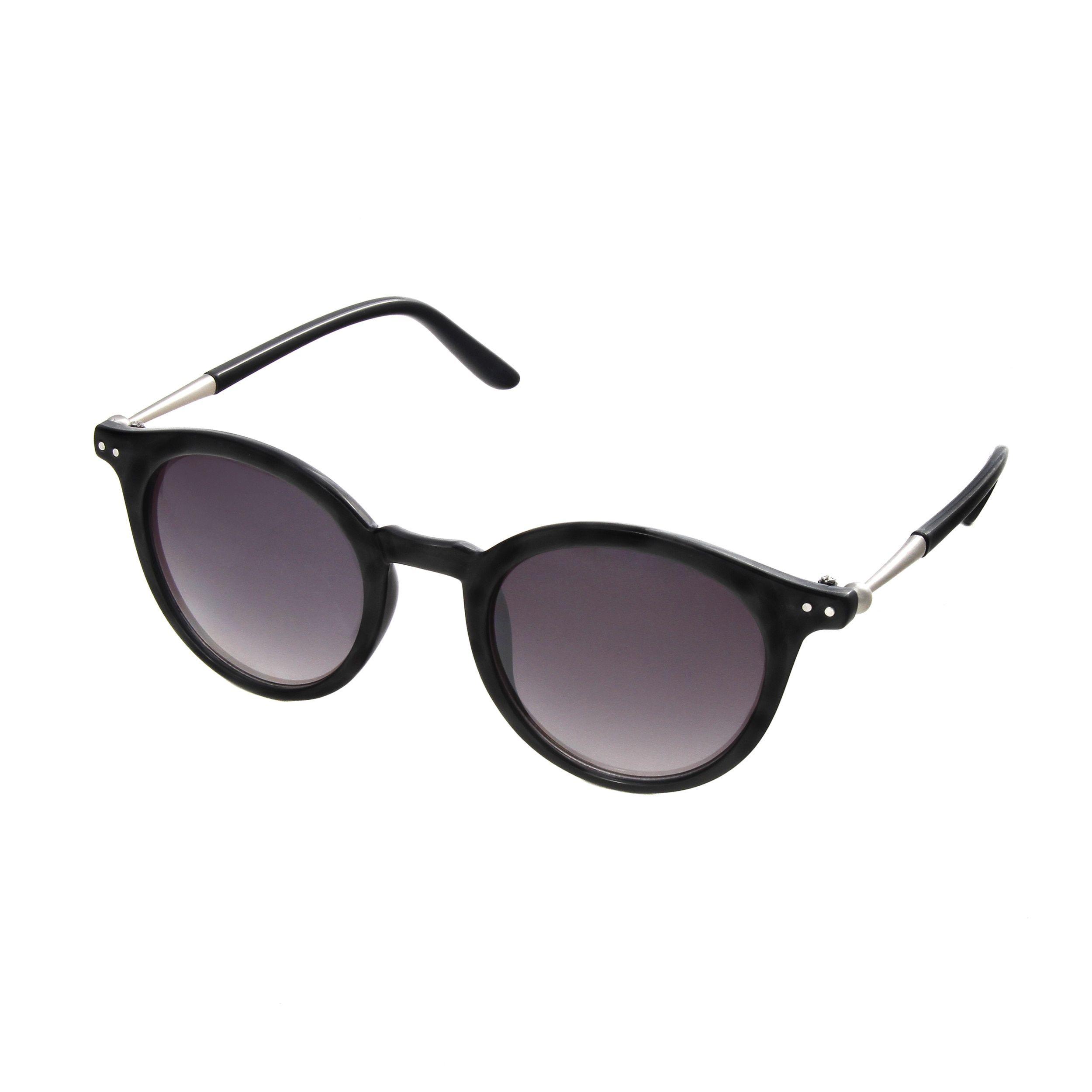 Hot Optix Women's Round Retro Embellished Temples Sunglasses