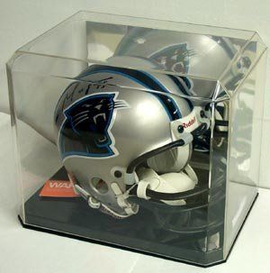 Mini Helmet Display Case With Mirror Back Helmet Not Included By Protech 9 50 Holds Mini Football And Football Helmets Mini Football Helmet Mini Footballs