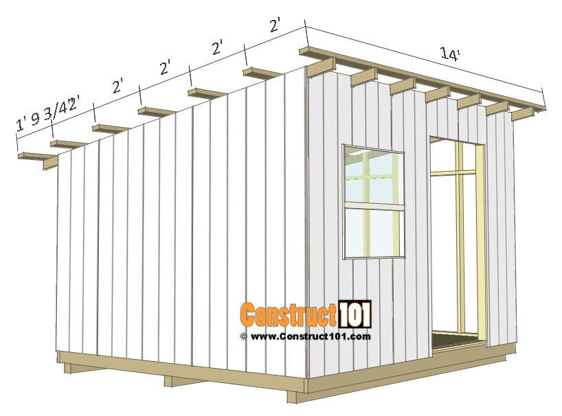 10x12 Lean To Shed Plans Roof Purlins Smallshed Lean To Shed Building A Shed Shed Plans