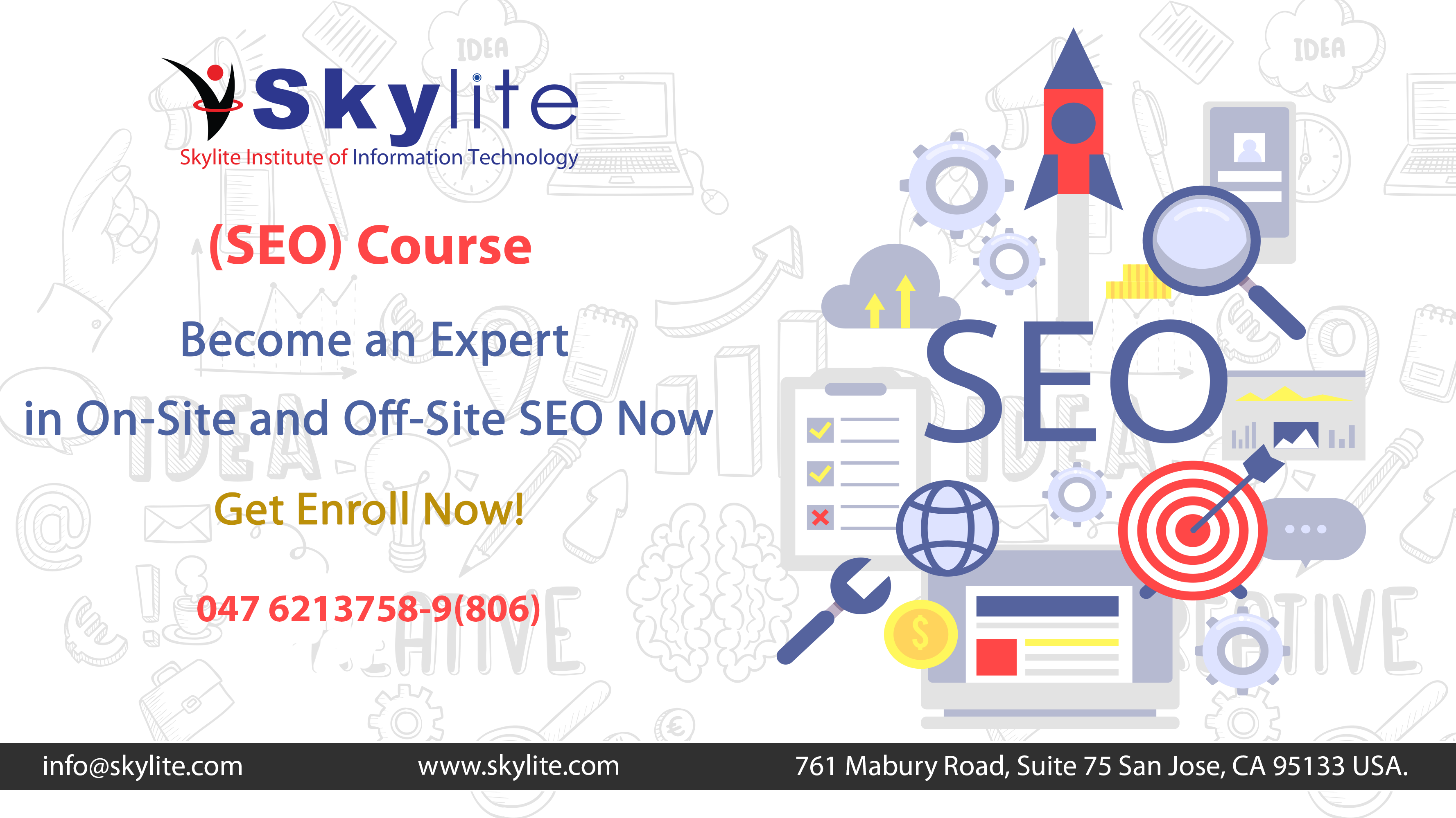 Seo Course Website Template Information Technology Courses