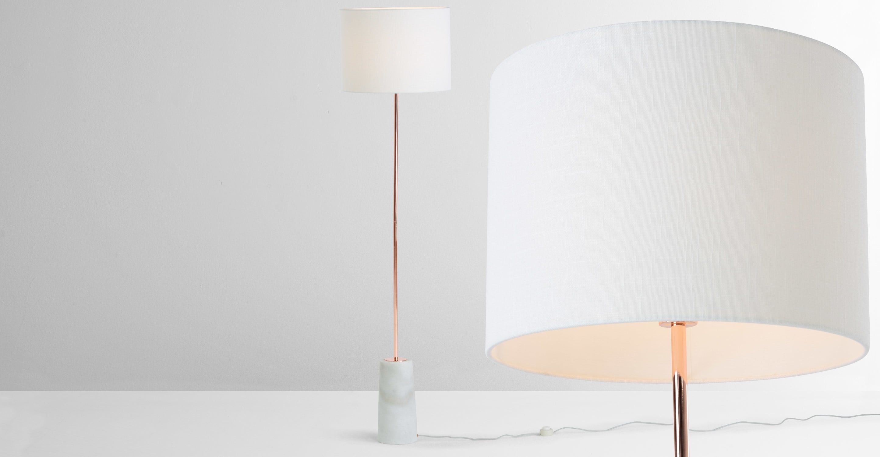 Außergewöhnlich Stehlampe Kupfer Sammlung Von Rita Stehlampe, Und Marmor ▻ Moderne Design-leuchten