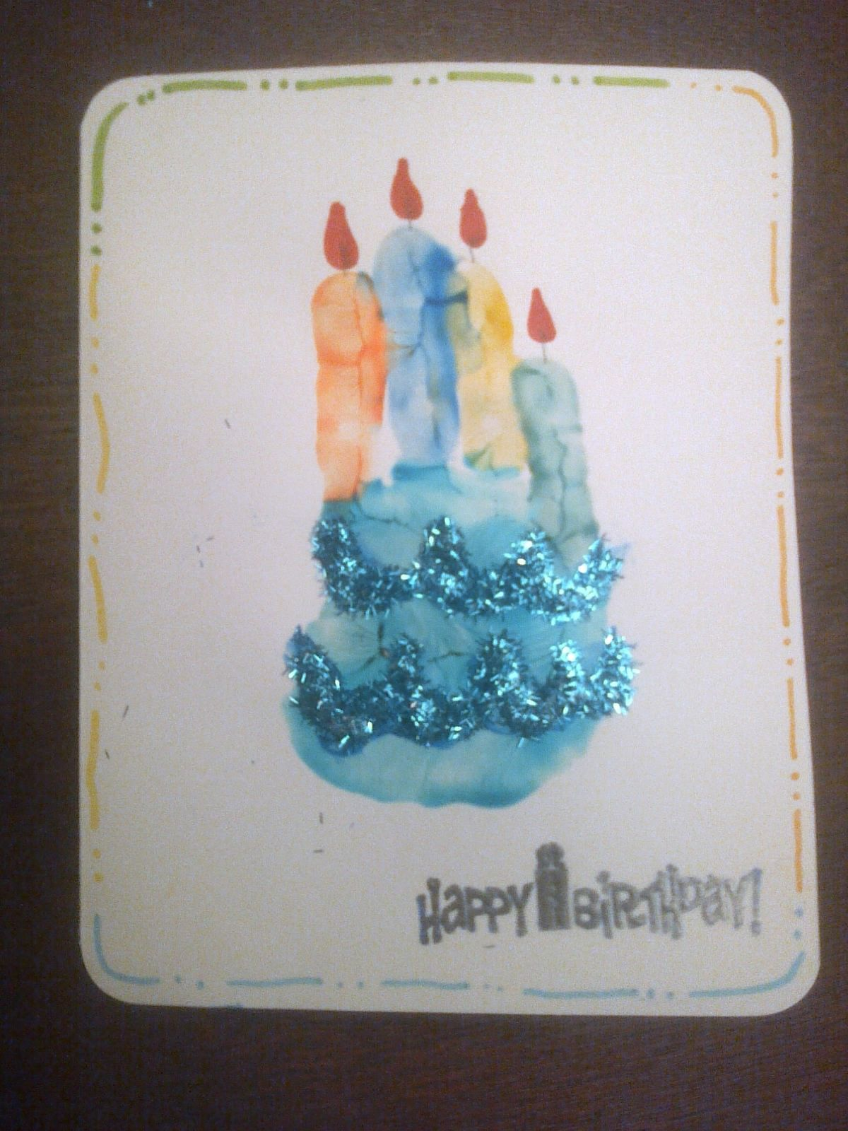 Birthday card from a 3 year old I painted my daughters palm and – M and S Birthday Cards
