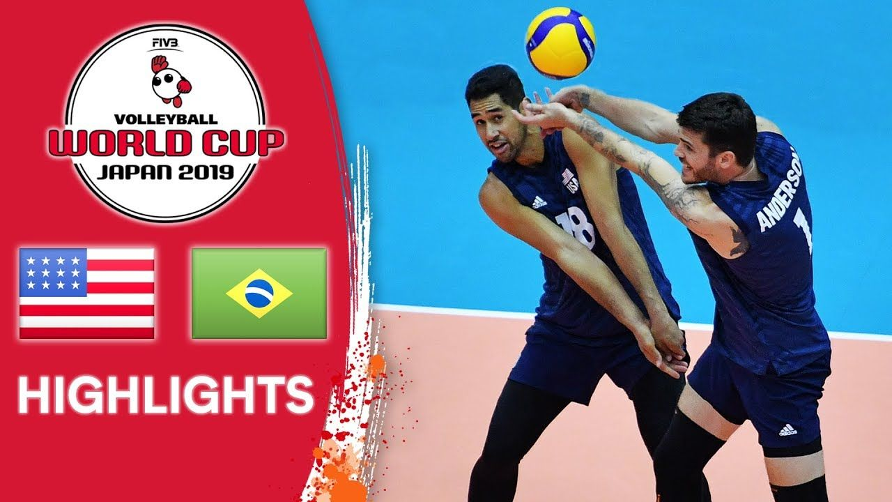 Usa Vs Brazil Highlights Men S Volleyball World Cup 2019 Mens Volleyball World Cup Volleyball