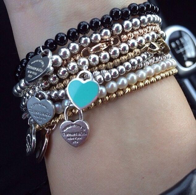 Stack Of Tiffany Co Bracelets Yes Please Tiffany Charm
