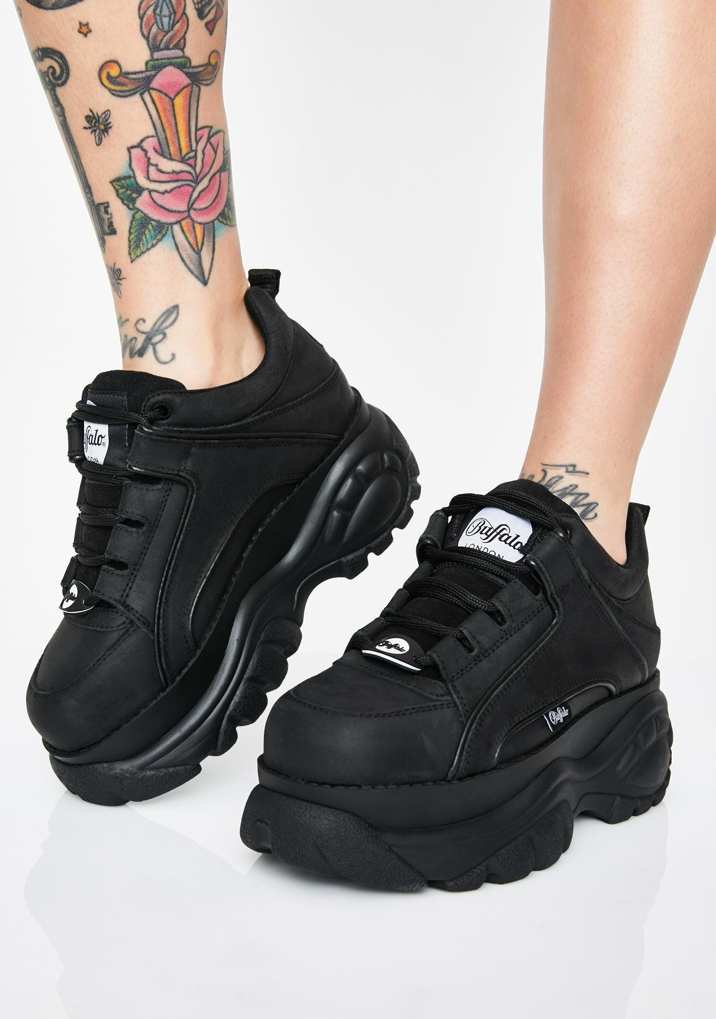 Leather sneakers, Sneakers, Platform boots