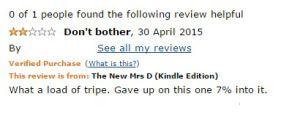 Bad Book Reviews and a Folder Called 'Bollocks'.