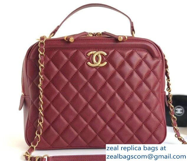 310956be4e58 Chanel Calfskin CC Vanity Case Medium Bag A57906 Red 2018 | Luxury ...