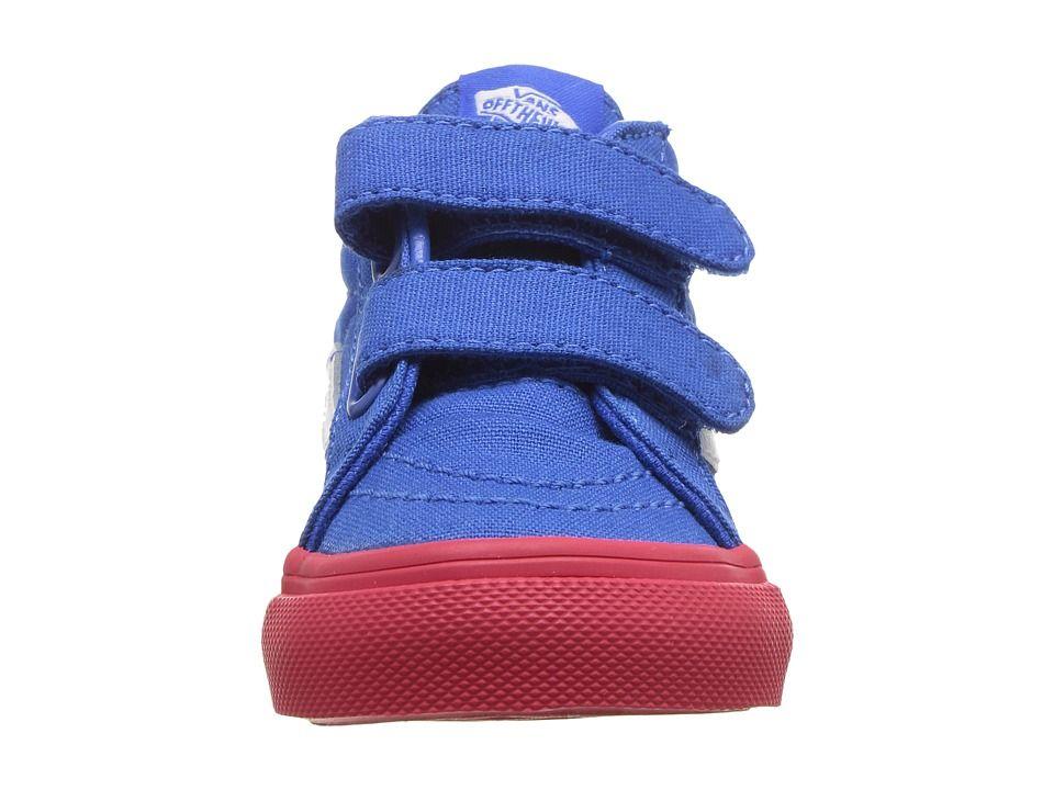 cb52d99b Vans Kids Sk8-Mid Reissue V (Toddler) Boys Shoes (Vans Cosplay) Blue ...