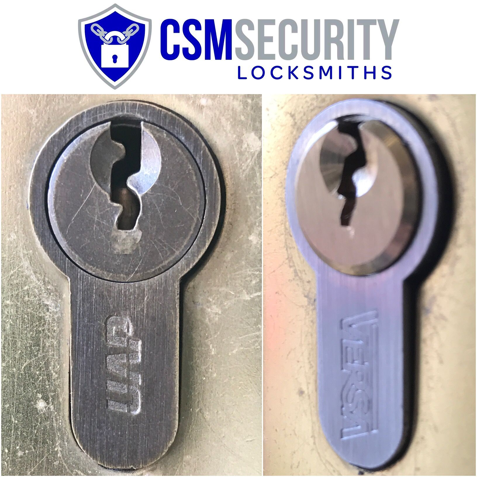 Replaced front door lock on a property in MK. New lock supplied ...
