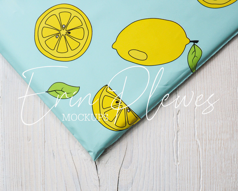 Download Poly Mailer Bag Mockup Lemon Shipping Bag Mock Up Plastic Etsy In 2021 Bag Mockup Mockup Poly Mailers